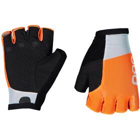POC Essential Road Guantes Cortos Malla, granite grey/zink orange